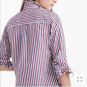 NWT J.Crew Classic Fit Boy Striped Shirt